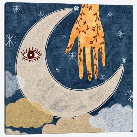 Vintage Moon Canvas Print #OBK44} by Olivia Bürki Canvas Print