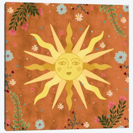 Vintage Sun Canvas Print #OBK45} by Olivia Bürki Art Print