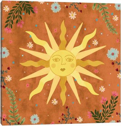 Vintage Sun Canvas Art Print