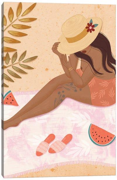 Water Melon Picnic Canvas Art Print