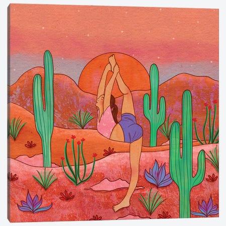 Yoga In The Desert I Canvas Print #OBK53} by Olivia Bürki Canvas Print