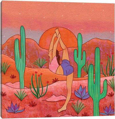 Yoga In The Desert I Canvas Art Print