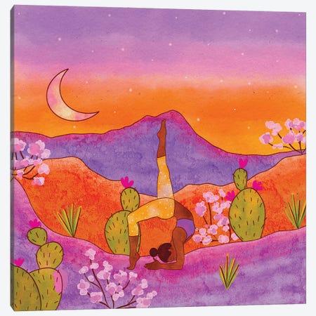 Yoga In The Desert Iii Canvas Print #OBK55} by Olivia Bürki Canvas Art