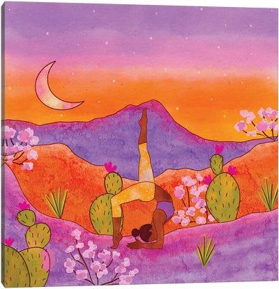 Yoga In The Desert Iii Canvas Art Print