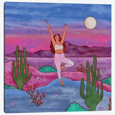 Yoga In The Desert IV Canvas Print #OBK58} by Olivia Bürki Canvas Print