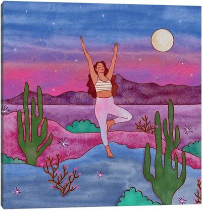 Yoga In The Desert IV Canvas Art Print