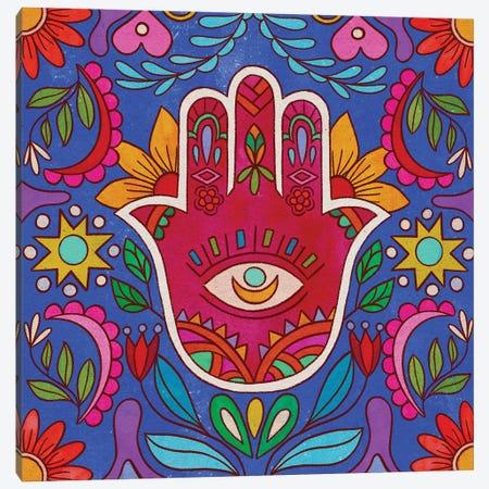 Colorful Hamsa Hand Canvas Print #OBK59} by Olivia Bürki Canvas Art Print