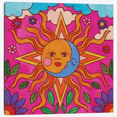 Sol Y Luna Canvas Print #OBK60} by Olivia Bürki Canvas Wall Art