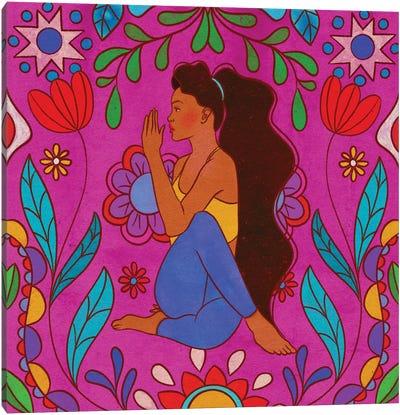 Colorful Yoga Canvas Art Print