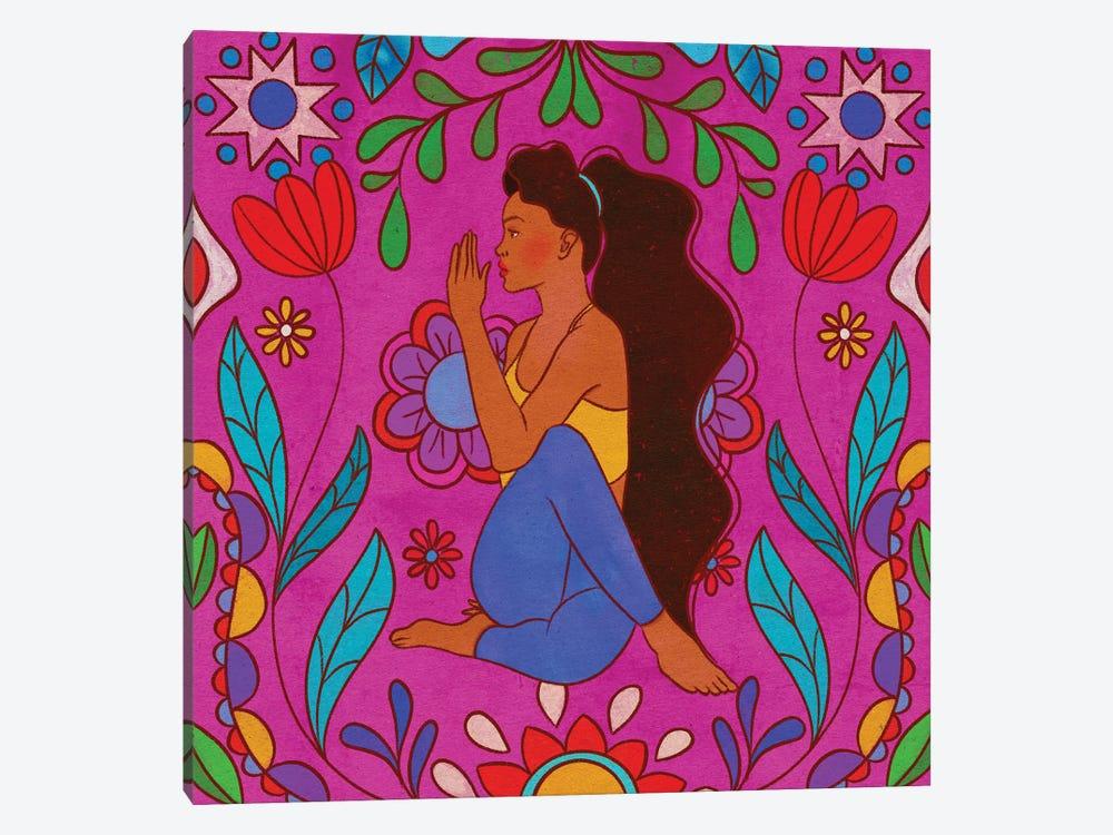 Colorful Yoga by Olivia Bürki 1-piece Canvas Art