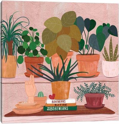 Boho Plantlets Canvas Art Print