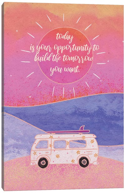 Build Your Tomorrow Canvas Art Print