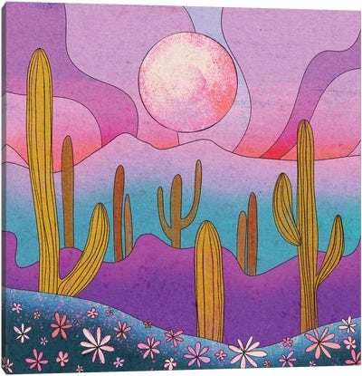 Desert Flowers Canvas Art Print