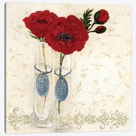 Inspired Red Canvas Print #OBM3} by O. Boem Canvas Artwork
