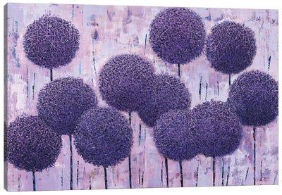 Purple Geometry (Triptych) Canvas Art Print