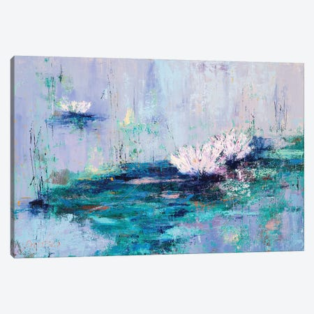 Water Lilies Canvas Print #OBO106} by Olena Bogatska Canvas Artwork