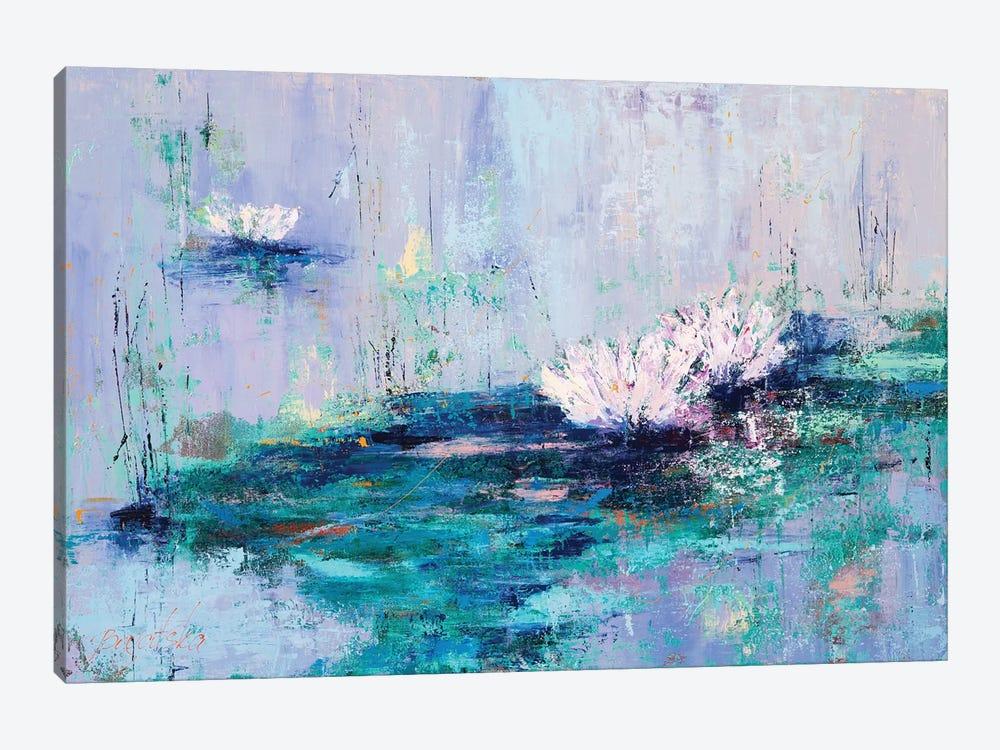 Water Lilies by Olena Bogatska 1-piece Canvas Print