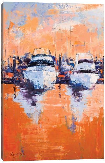 Evening Dock Canvas Art Print