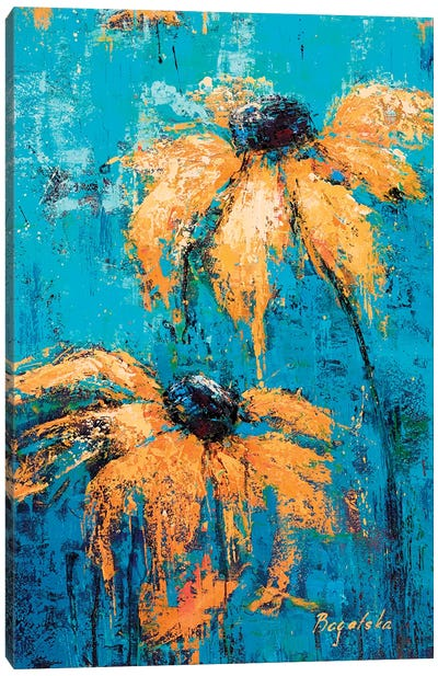 Black-Eyed Susans Canvas Art Print