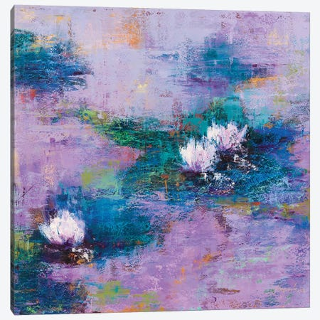 Purple Pond Canvas Print #OBO110} by Olena Bogatska Canvas Wall Art