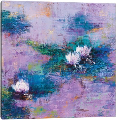 Purple Pond Canvas Art Print