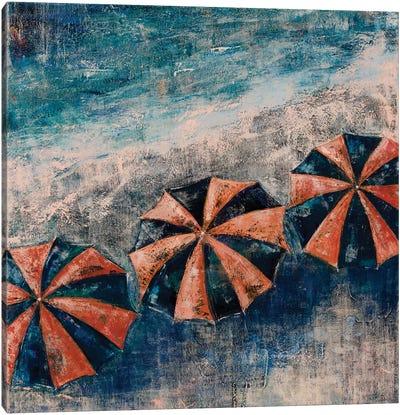 Beach Umbrellas Canvas Art Print