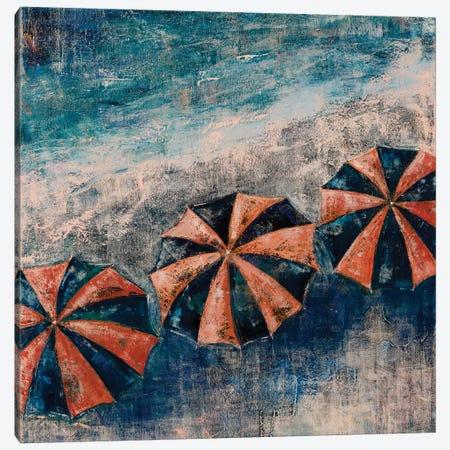 Beach Umbrellas Canvas Print #OBO112} by Olena Bogatska Canvas Artwork