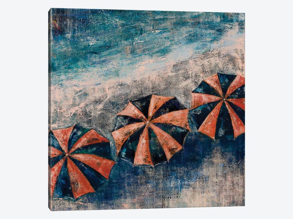 Beach Umbrellas by Olena Bogatska 1-piece Canvas Wall Art