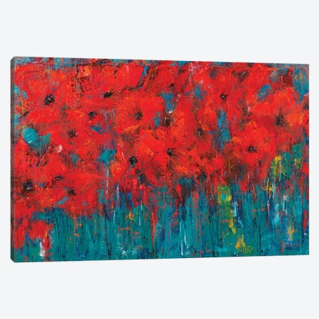 Poppy Canvas Print #OBO113} by Olena Bogatska Canvas Wall Art