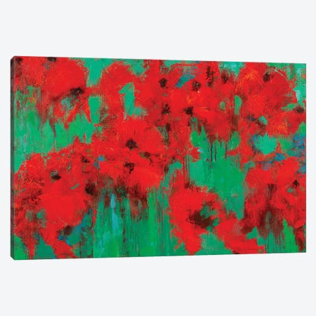 Poppy Field Canvas Print #OBO116} by Olena Bogatska Canvas Art Print