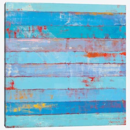 Blue Stripes Canvas Print #OBO117} by Olena Bogatska Canvas Art Print