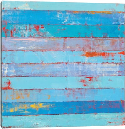 Blue Stripes Canvas Art Print