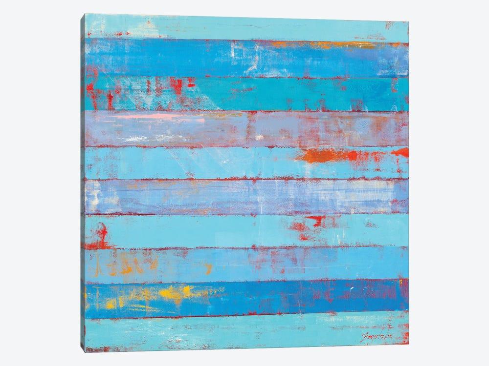 Blue Stripes by Olena Bogatska 1-piece Canvas Art Print