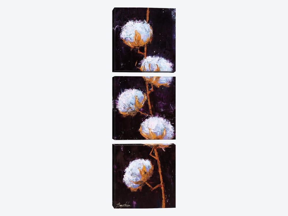 Cotton Branch by Olena Bogatska 3-piece Canvas Art