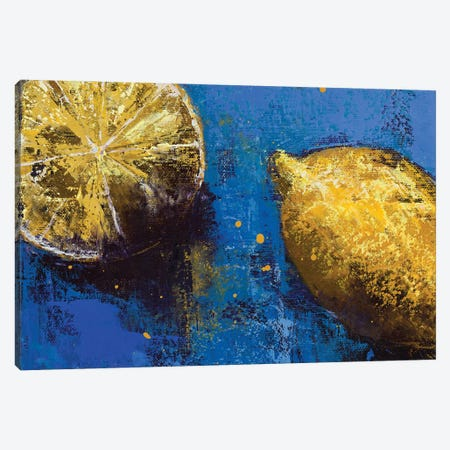 Lemons III Canvas Print #OBO120} by Olena Bogatska Canvas Print