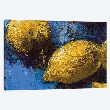 Lemons IV Canvas Print #OBO121} by Olena Bogatska Canvas Print