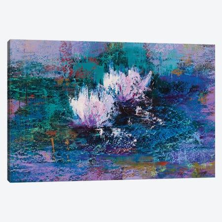 Water Lilies II Canvas Print #OBO123} by Olena Bogatska Canvas Art Print