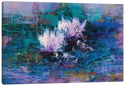 Water Lilies II Canvas Art Print
