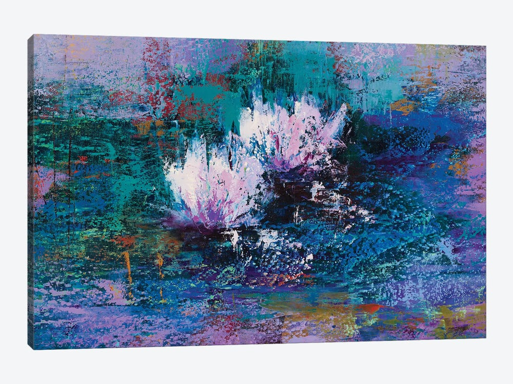 Water Lilies II by Olena Bogatska 1-piece Canvas Artwork