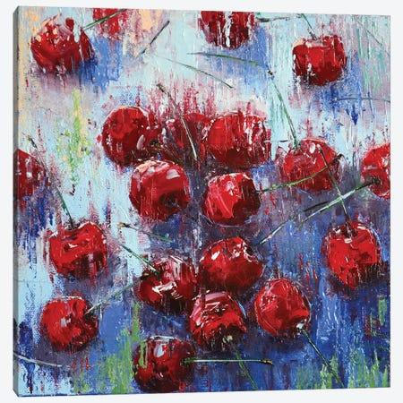 Cherry I Canvas Print #OBO15} by Olena Bogatska Canvas Artwork