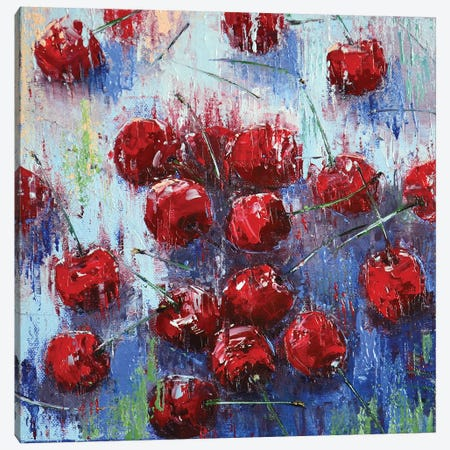 Cherry I Canvas Print #OBO15} by Olena Bogatska Canvas Artwork