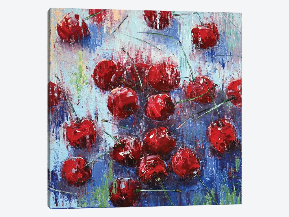 Cherry I by Olena Bogatska 1-piece Canvas Art
