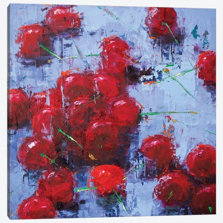 Cherry II Canvas Print #OBO16} by Olena Bogatska Canvas Wall Art