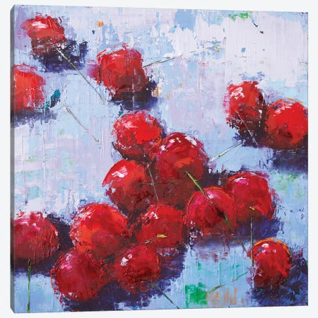 Cherry III Canvas Print #OBO17} by Olena Bogatska Canvas Art