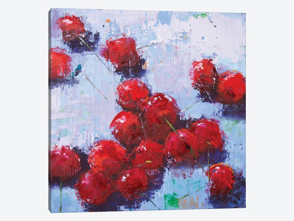 Cherry III by Olena Bogatska 1-piece Canvas Art