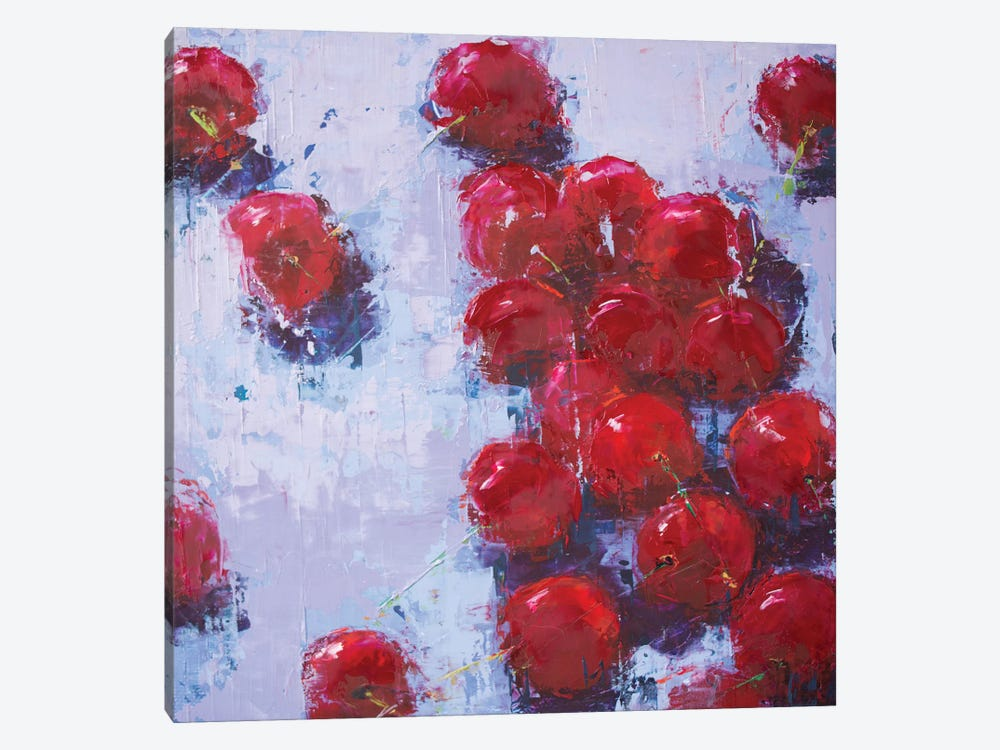 Cherry IV by Olena Bogatska 1-piece Canvas Print