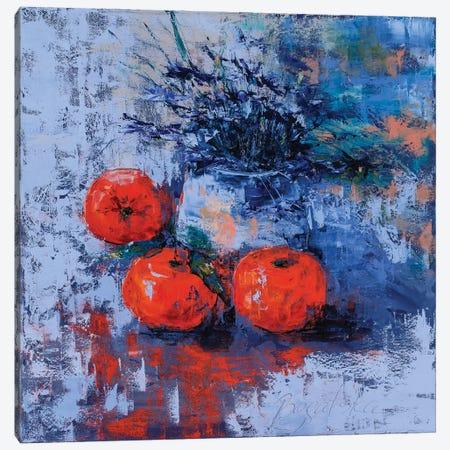 Clementines Canvas Print #OBO19} by Olena Bogatska Art Print