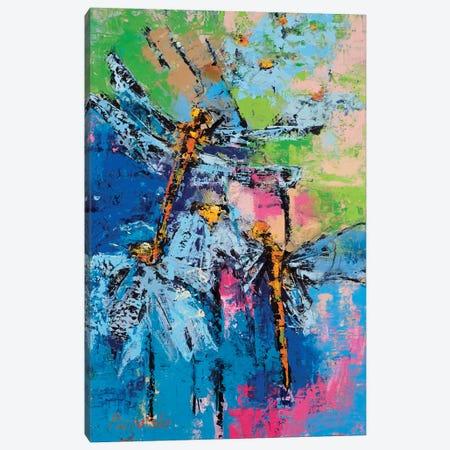 Drgaonflies Canvas Print #OBO25} by Olena Bogatska Canvas Art Print