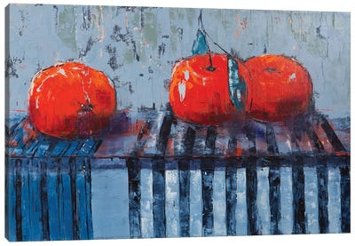 Fruits And Stripes Canvas Art Print