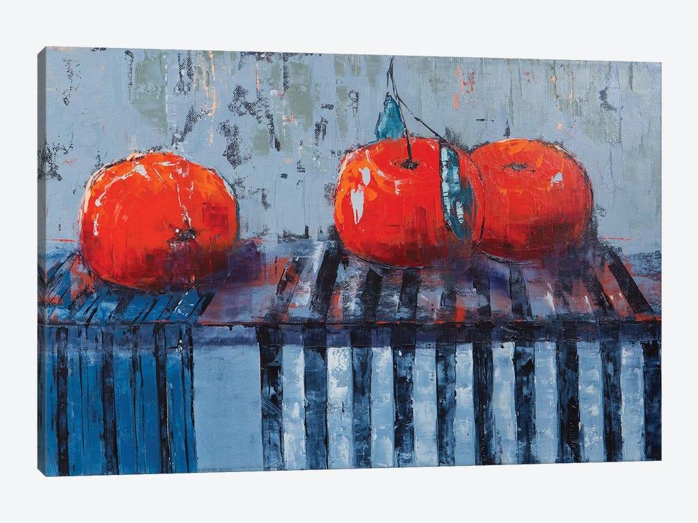 Fruits And Stripes by Olena Bogatska 1-piece Canvas Print